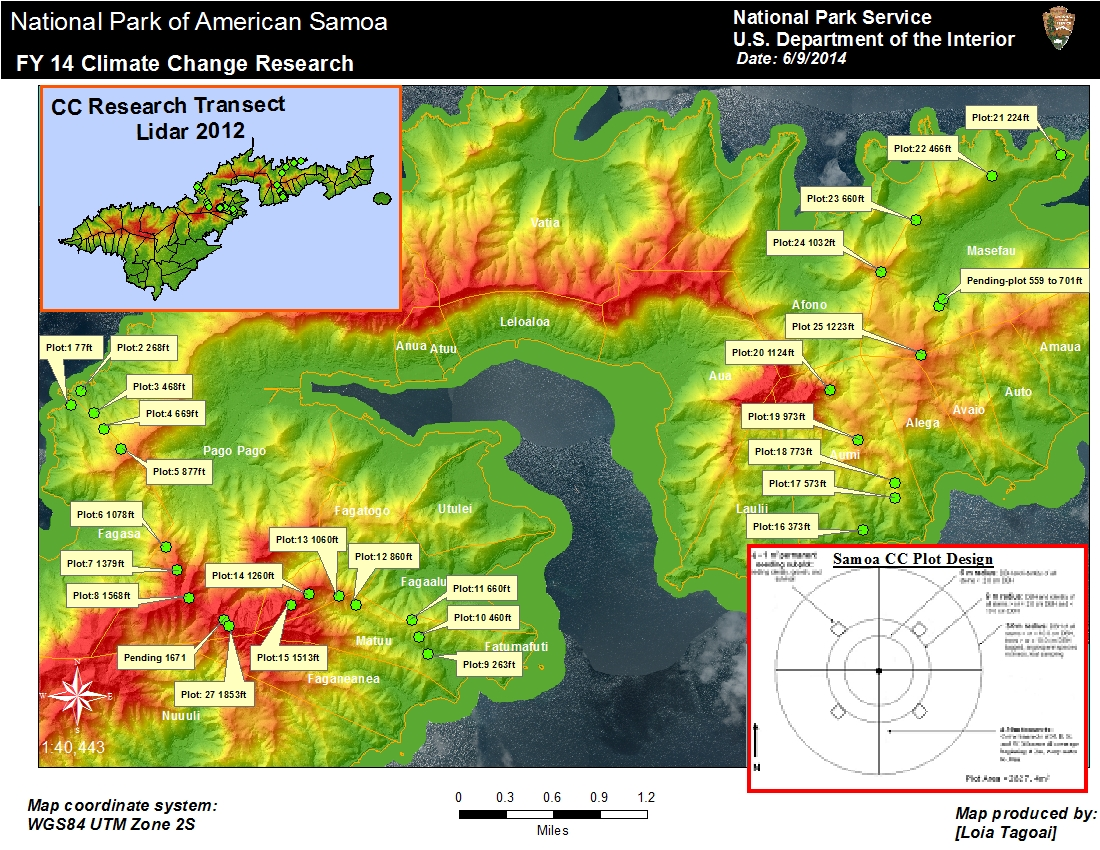2014 national park of american samoa climate change research map